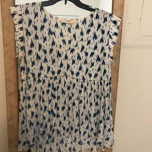 Ba&sh printed blouse sz small